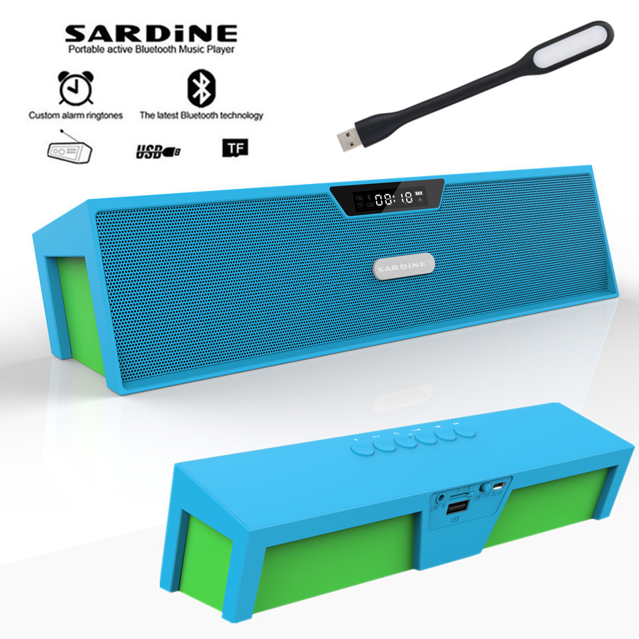Sardine HIFI blue portable wireless bluetooth Speaks