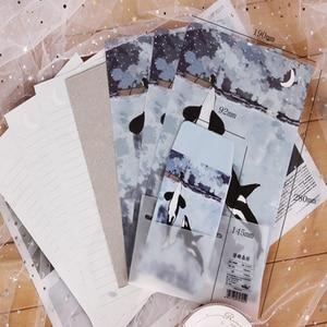Image 5 - 8Packs/lot New Floating Foresta Mare Elfi 3 Buste + 6 Lenzuola Lettera di Carta Set di nozze per inviti Carino ufficio Stazionario Forniture
