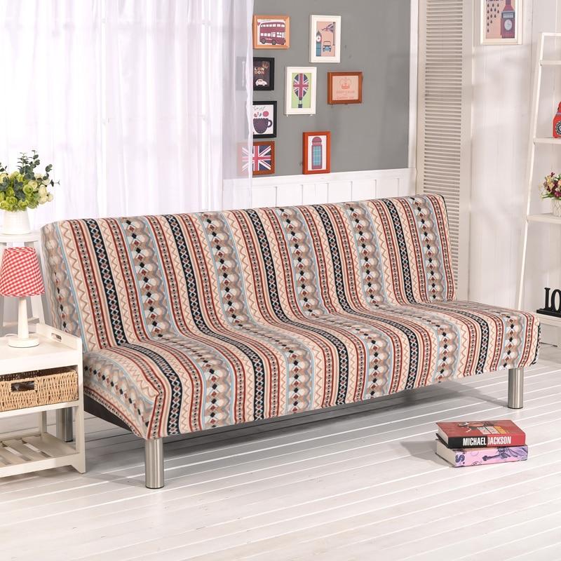Stretch Sofa Cover Elastic Couch Cover Armless Sofa Slipcovers Cheap Sofa Bed Covers For Livingroom Bohemia