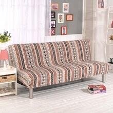 Stretch Sofa Decken Elastischen Couch Abdeckung Armless Sofa Hussen Günstige Sofa Covers Für Wohnzimmer Böhmen-Rot V20