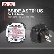 BSIDE AST01US Tomada Tester EUA Plug Parede Detector De Tensão de Circuito  Polaridade Automática Plug Teste Disjuntor Do Finder . d04a381b40