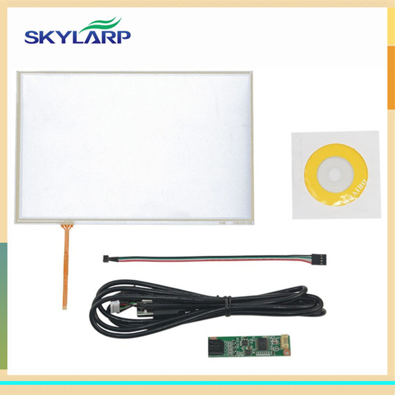 skylarpu New 10.1 inch 4 Wire Resistive Touch Panel USB Controller Kit For B101EVN07.0 Screen touch panel Glass skylarpu new 7 inch 4 wire resistive touch screen for at070tn90 at070tn94 at070tn92 digitizer panel glass with usb control kit
