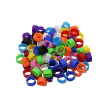 100 Pcs Pigeons Rings 8mm Bayonet Identification Ring Opening Pigeon Ring Color Pigeon Foot Ring Pigeon Supplies Bird Appliances(China)