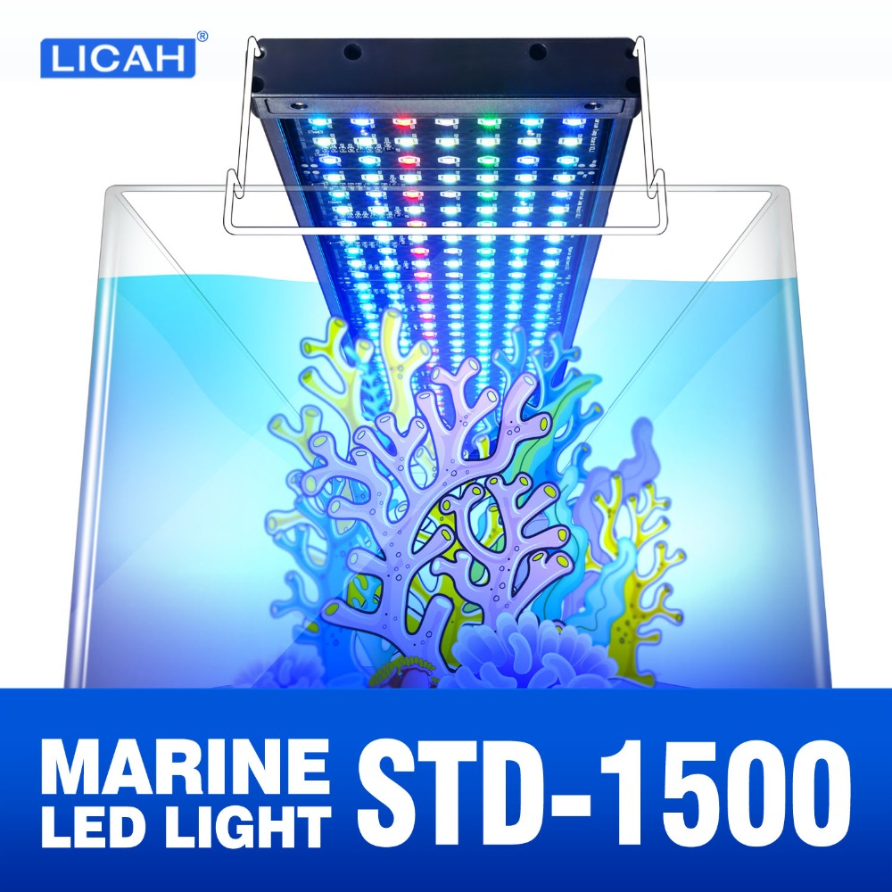 LICAH agua salada acuario luz LED STD-1500 Shpping libre