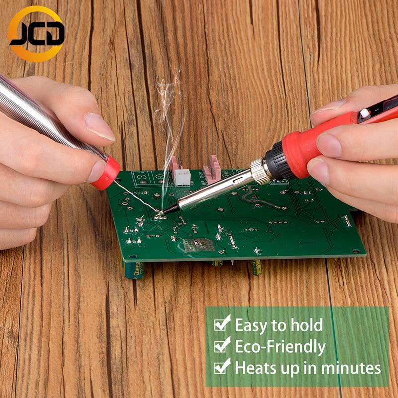 JCD 220 в 80 Вт ЖК-Электрический паяльник 908 с регулируемой температурой паяльник с качественным паяльником наконечники и наборы