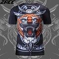 Китайский Стиль 3D Печати Футболка Brand Clothing Для Мужчин О-Образным Вырезом Новинка Сжатия Рубашка Плюс Размер Воин Полиэстер Мужчины Crossfit