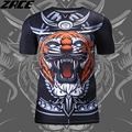 Chinese Style 3D Print T Shirt Brand Clothing For Men O-neck Novelty Compression Shirt Plus Size Warrior Polyester Male Crossfit