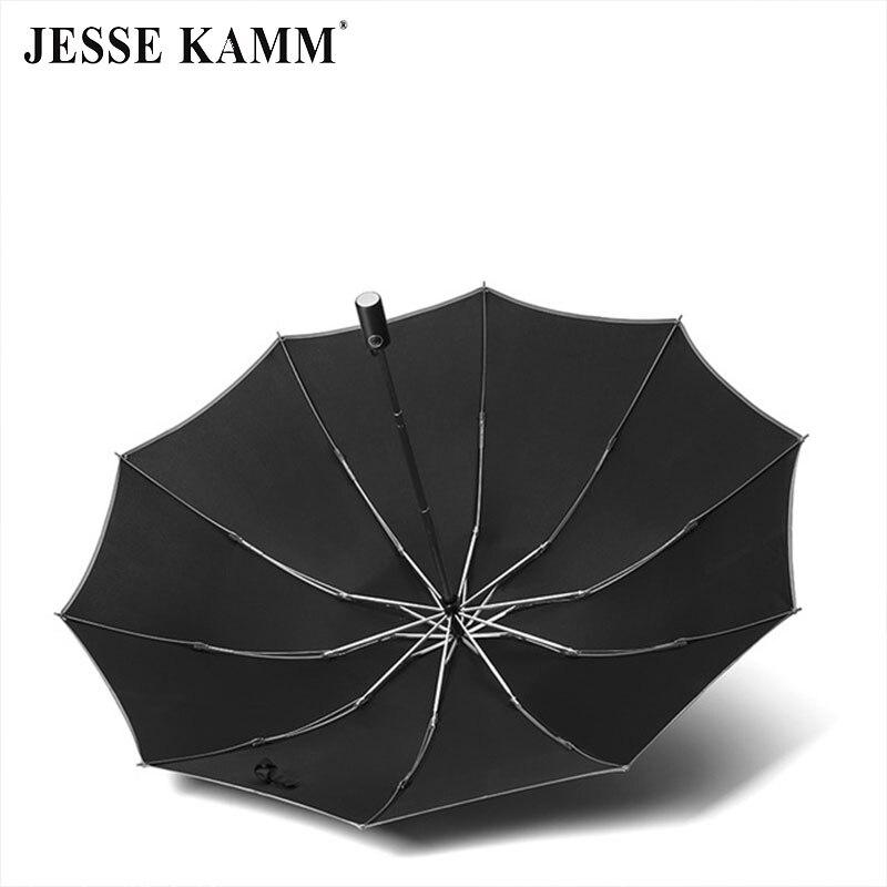 JESSE KAMM automatyczny 10 kości 190 T odwrotnej parasol słoneczny deszcz składany trzyosobowy handlowych parasol dla mężczyzn i kobiet 1  2 osób w Parasole od Dom i ogród na  Grupa 3