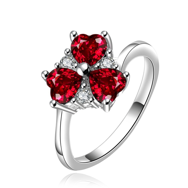 Aliexpresscom Buy 925 sterling silver ring three colorful CZ