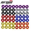 Ace speed--Fender Washers 1set=8pcs(+2pcs) washers and bolt With logo Fender Washers JDM