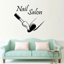 Fashion Nail Salon Wall Decal Nail Polish Modern Vinyl Wall Stickers Girls Beauty Manicure Salon Woman Interior Art Mural SYY555