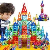 184 개 110 개 미니 자기 디자이너 건설 세트 모델 및 건물 장난감 플라스틱 자기 블록 교육 장난감 아이 Gif