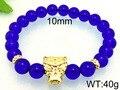 Kalen punk azul contas de vidro pulseiras para homens 316 aço inoxidável banhado a ouro & prata paquistanês cor leopard charme pulseiras