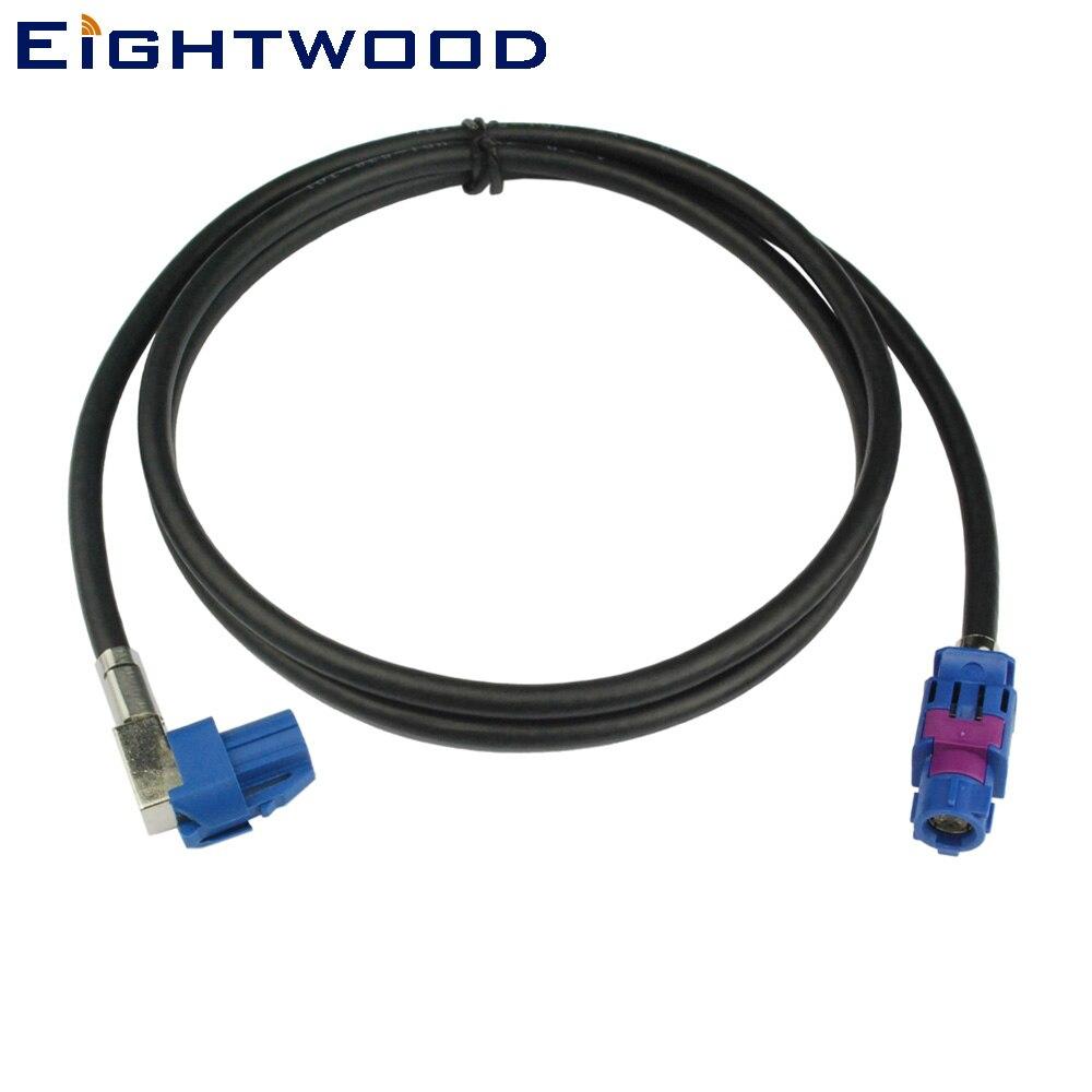 Eightwood Nouveau Véhicule Haute-vitesse Transmission FAKRA HSD C Bleu Signal LVDS 120 cm Blindé Dacar 535 4- core Câble