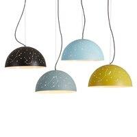 Nordic ресторан лампа Цвет абажур подвесной светильник творческая личность бар Фонари три круглых Hotel ламп