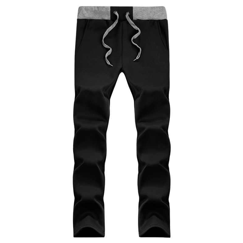 Мужской спортивный костюм из плотного флиса, черный утепленный спортивный костюм, толстовка свитшот с капюшоном и меховой подкладкой, повседневная куртка-парка, верхняя одежда на зиму 2019