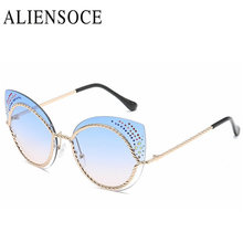 New Cat Eye Sunglasses Elegant Summer Style Sunglasses Shades Women Brand Designer Female Hollow Sunglasses Gafas De Sol UV400