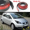 Car Bumper Lip For Mitsubishi Colt / Make car lower Body Kit / Front / Rear Skirt Spoiler / Bumper Deflector Rubber Strip