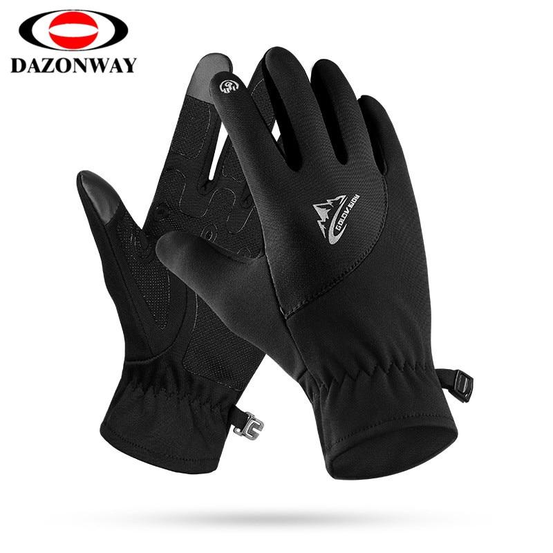 Touch Screen Running Gloves Winter Autumn Men Women Waterproof Windproof Motorcycle Lightweight Non-slip Warm Villus S~XL