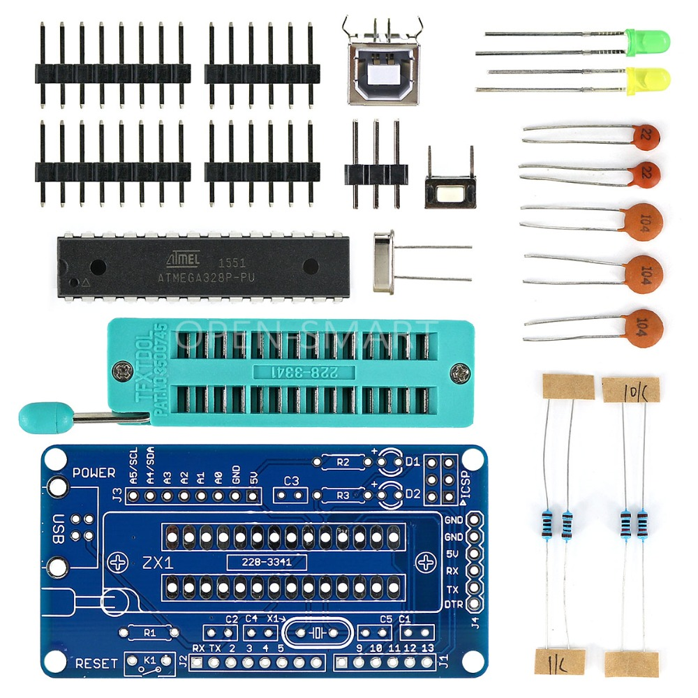 UNO R3 ATmega328P Programmer Development Board DIY Soldering Parts w/ Soldering Tutorial for Arduino wing chun boji tutorial