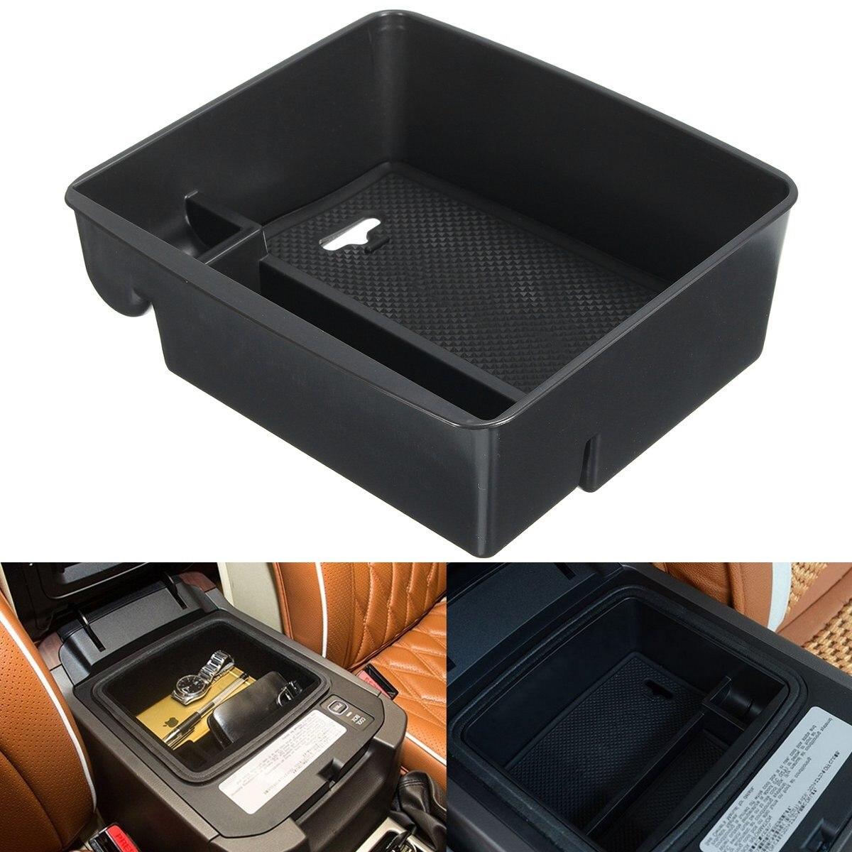 1 Set Armrest Box Storage With Mat For Toyota Land Cruiser Prado FJ120 FJ150 2004-2015 Car Center Storage Boxes Holder