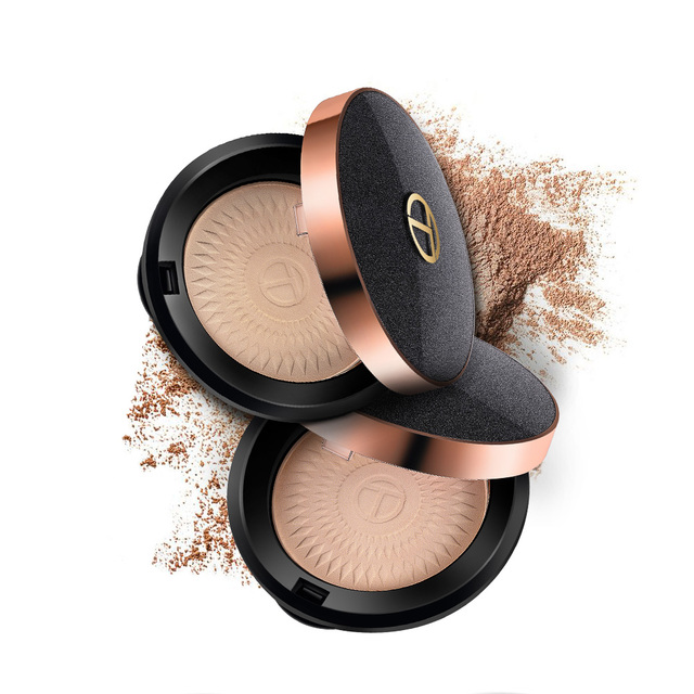 O.TWO.O Natural Face Powder Mineral Foundations Oil-control Brighten Concealer Whitening Make Up Pressed Powder With Puff 2