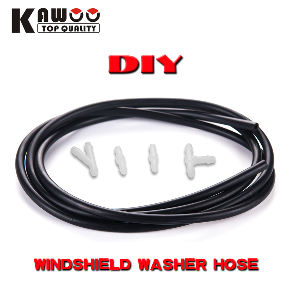 Universal 5pcs/Set DIY Car wiper blade Windshield Washer Hose Pipe 1 Meter Or 2 Meter Automotive blades Car <font><b>Accessories</b></font> Styling image