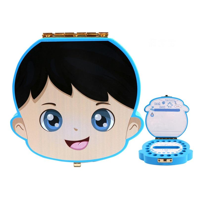 Baby Tooth Keepsake Storage Box Milk Teeth Save Organizer Case Container Wood Tooth Box Baby Kids Tooth Boxs Storage Boxs