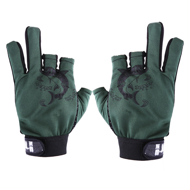 Special Price 1Pair Outdoor Sport Waterproof Breathable Motorcycle MTB Mountain Road Bike Gloves 3 Cut Finger Anti-slip Non-Slip Fishing Glove