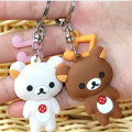 Bear Key Chain - New Creative Cute Cartoon Couple Key Chain Key Pendant Models Stall Mix Styles KeyRing