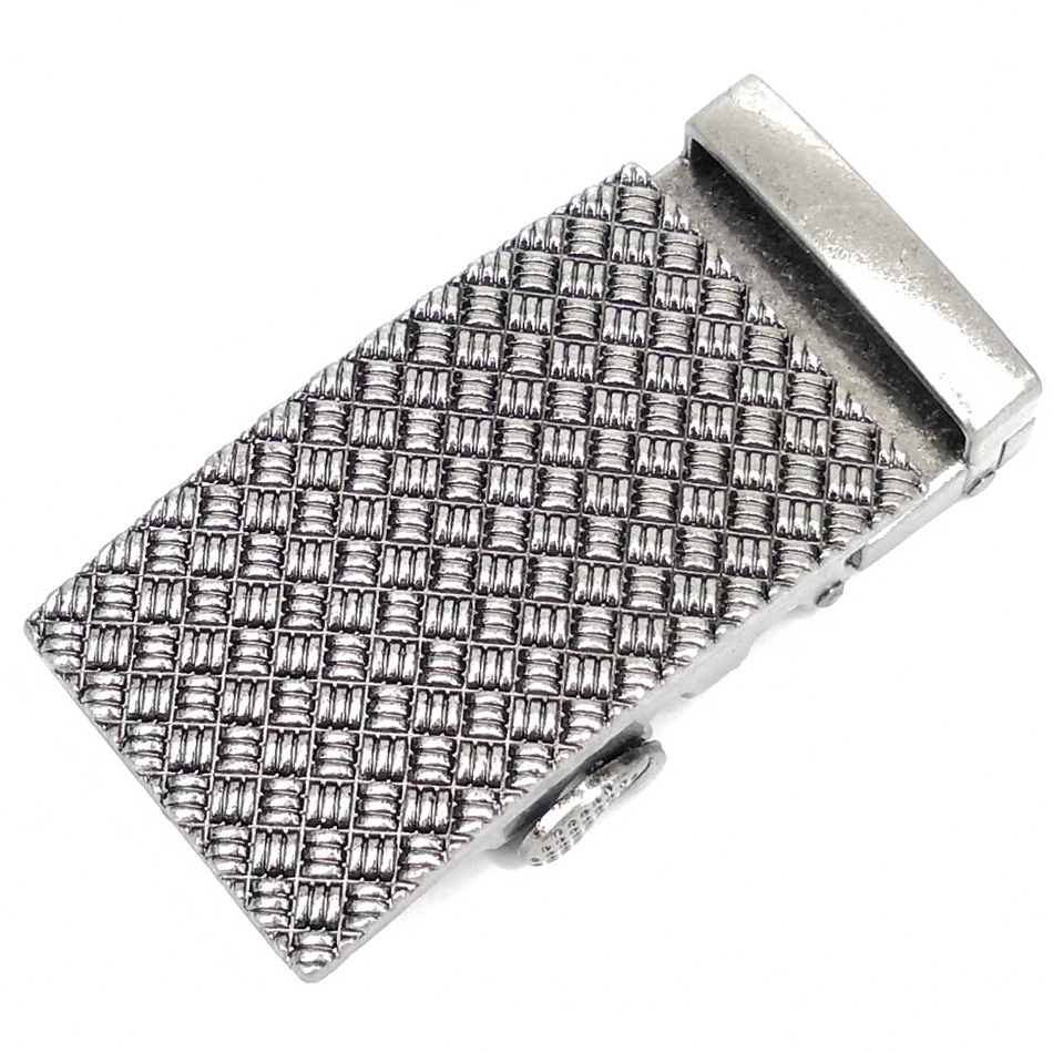 Men's Vintage Belt Buckle Comfortable Click Buckle Iron Mesh Texture
