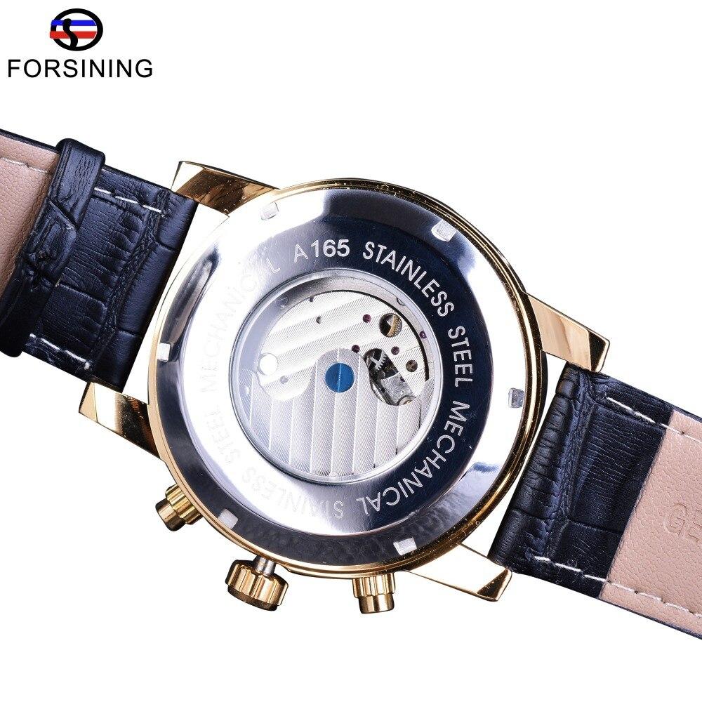 Forsining Golden Bezel Tourbillion Ανδρικά ρολόι - Ανδρικά ρολόγια - Φωτογραφία 4