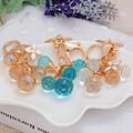 Novelty Items Charm Jewelry Rhinstone Beads Tassel Pendant Keychains Metal Keyring Creative Trinket For Women Free Shipping