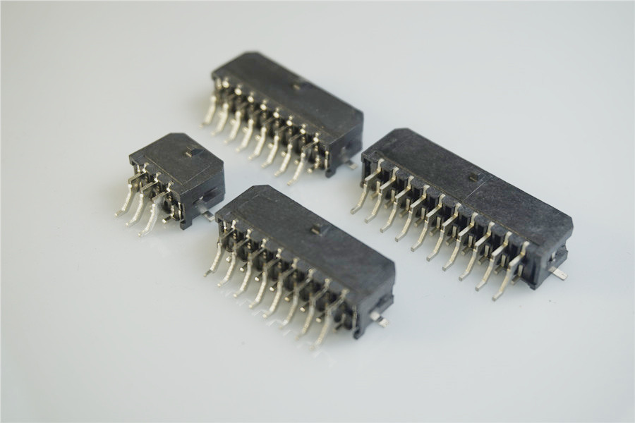 <font><b>1000</b></font> pcs Micro-Fit connector 3.0 mm wafer dual Row circuits 4 6 8 <font><b>10</b></font> 12 14 16 18 20 22 24 Pin right angle SMT solder TAB Tin image