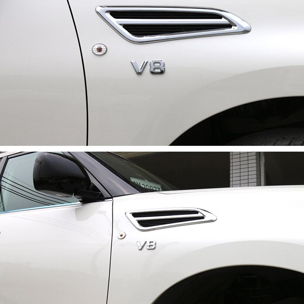 """2sets For Nissan Patrol Y62 2011-2017 Displacement 3D /"""" V8 /"""" Badge Sticker Trim"""