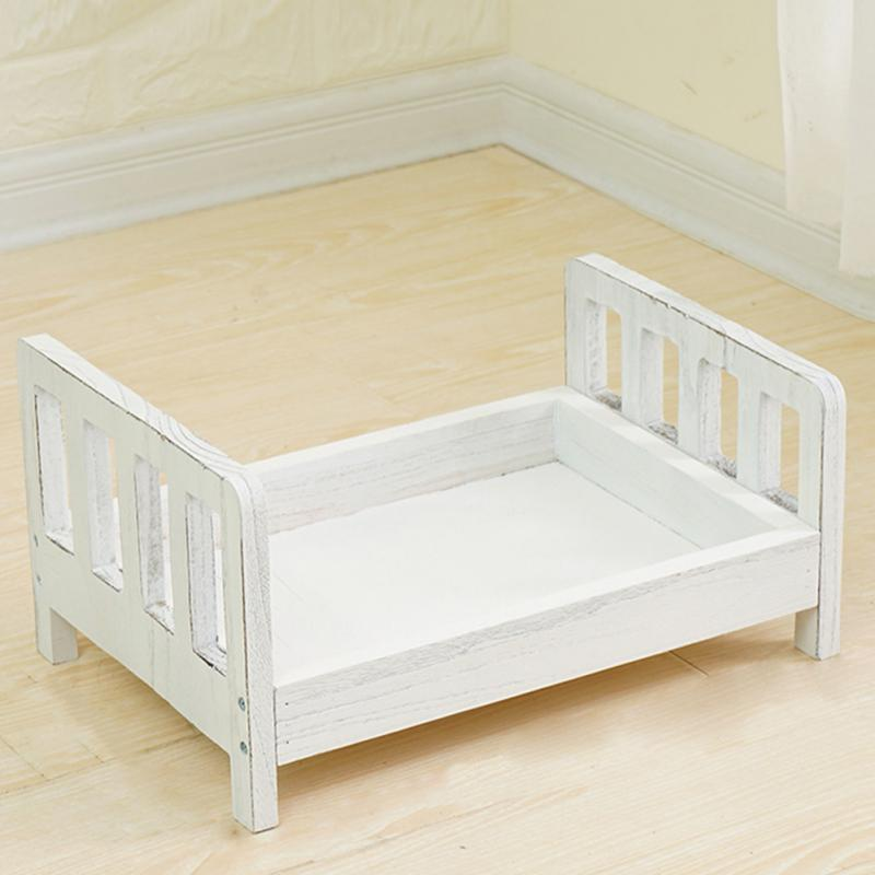 Gift Crib Background Detachable Sofa Photo Shoot Wood Bed Accessories Baby Photography Infant Posing Newborn Basket Studio Props