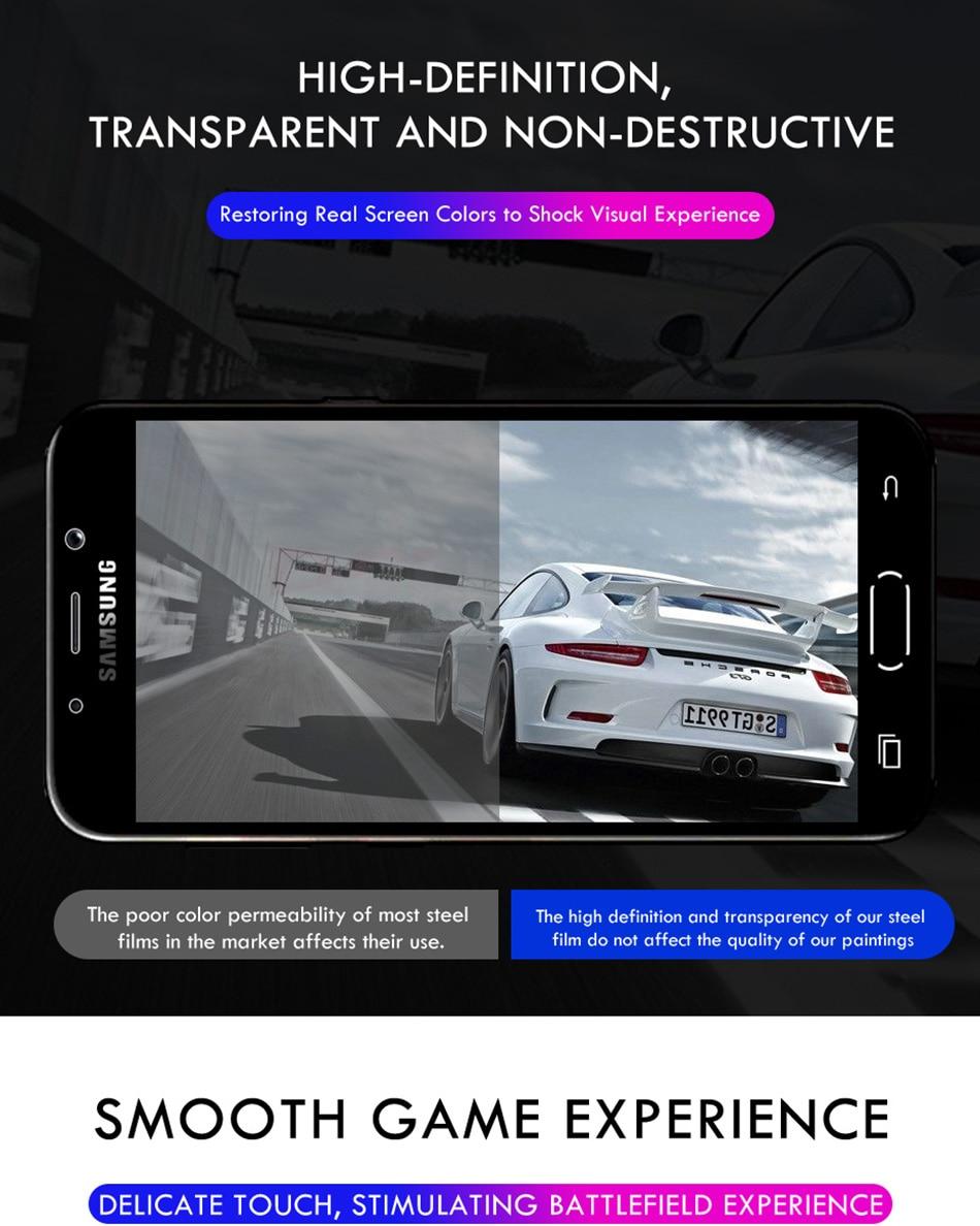 3 sztuk folia na wyświetlacz 9H 2.5D szkło hartowane dla Samsung Galaxy A7 A9 2018 J6 A6 A8 J4 Plus szkło ochronne do Samsung A5 2017 8