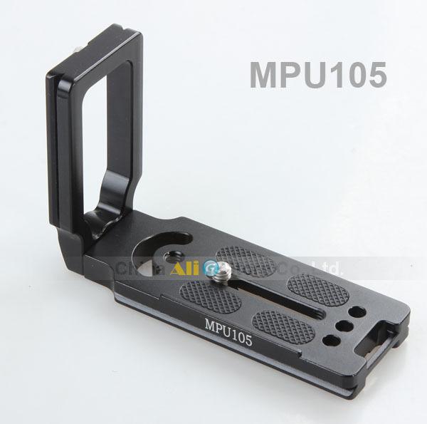 Nova mpu-105 quick release placa 105 cm L-placa 1/4 parafuso para tripé monopé bola de cabeça profissional 60d 70d 700d 6d acessórios