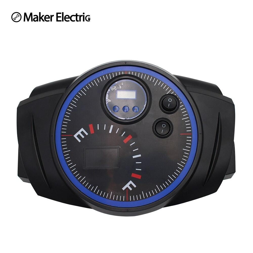 Digital screen Car compressor watch Shape electric air pump 12W lighting 25 cylinder tyre inflator for wheel emergency