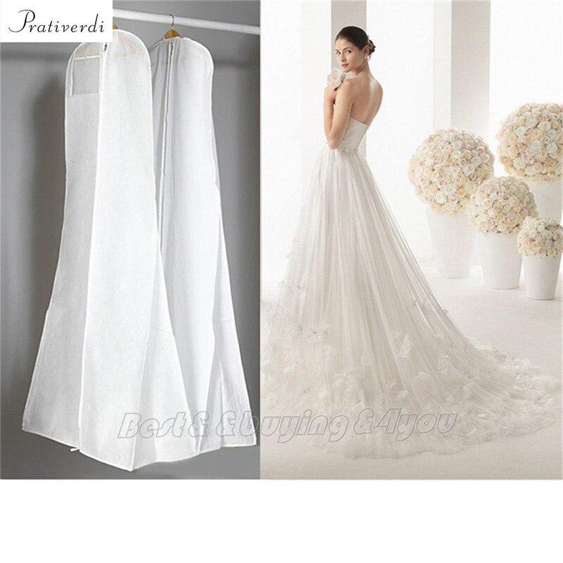 Prativerdi 1x wedding dress cover storage bags dustproof for Storing wedding dress in garment bag