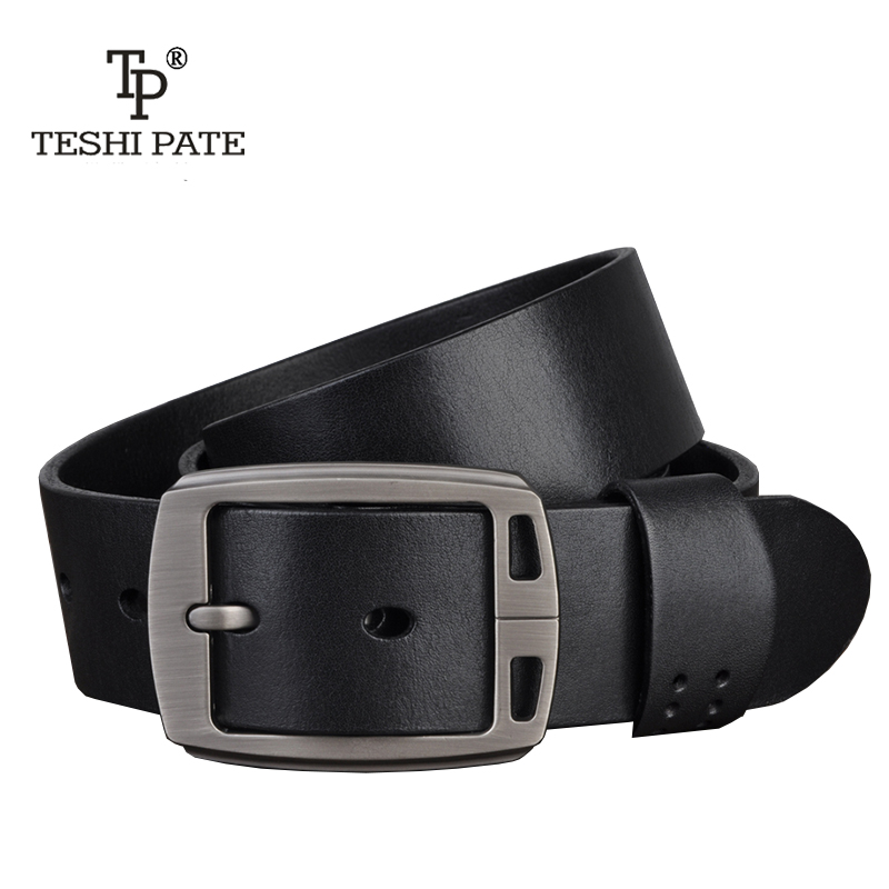 TESHI PATE TP hot designer belts men high Quality luxury 100% real full grain cowhide genuine leather fashion cowboys
