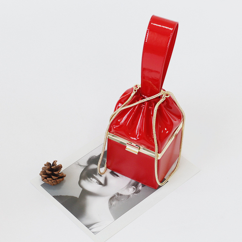 Box Evening Clutch Bags For Women 2018 Patent Leather Luxury Handbags Women Bags Designer Vintage Crossbody Bags For Women Bolsa taliayh luxury handbags women bags designer fashion brand chain evening clutch bag female messenger crossbody bags for women