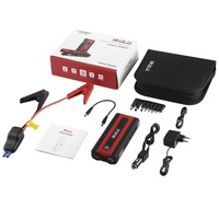 Portable 15000mAh Car Jump Starter Kit Emergency Battery Booster Pack with Compass Dual USB Power Bank with LED Flashlight