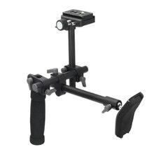 Réflex Digital de la manija ayuda del hombro del aparejo hombro soporte estabilizador Rig placa de liberación rápida para A7 R A7II cámara de vídeo Digital DVD