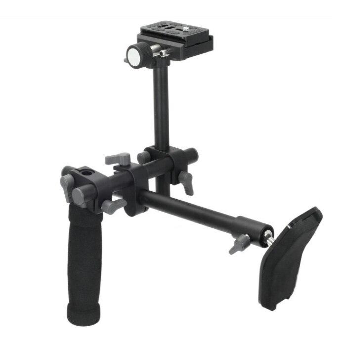 Mango DSLR hombro soporte Rig hombro soporte estabilizador Placa de liberación rápida para A7 R A7II digital cámara de video DVD