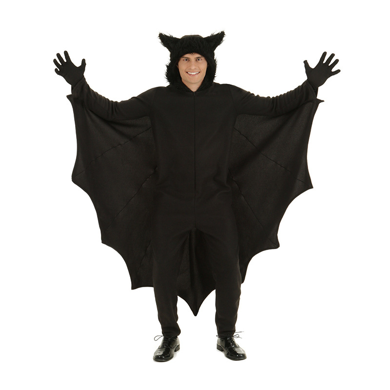 Kids Cosplay Bat Costumes S-4XL men women Vampire Clothes Family Dress Fancy Halloween Parenting Jumpsuits Witch Clothes Gloves