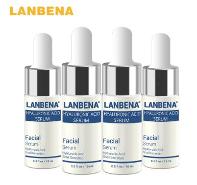 Beleza LANBENA HA ácido hialurônico hidratante essência facial cuidados com a pele cabeça preta Ageless Beauty clareamento creme Anti rugas