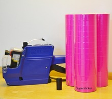 [ Fly Eagle ] MX-6600 10 Digits 2 Lines Price Tag Gun labeler +1 Ink + 15000 Pink Tags