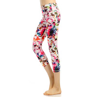 Joggers Compression Pants Women Sports Fitness Run Tights Leggings Yoga Pants 3 4 High Waist Patchwork