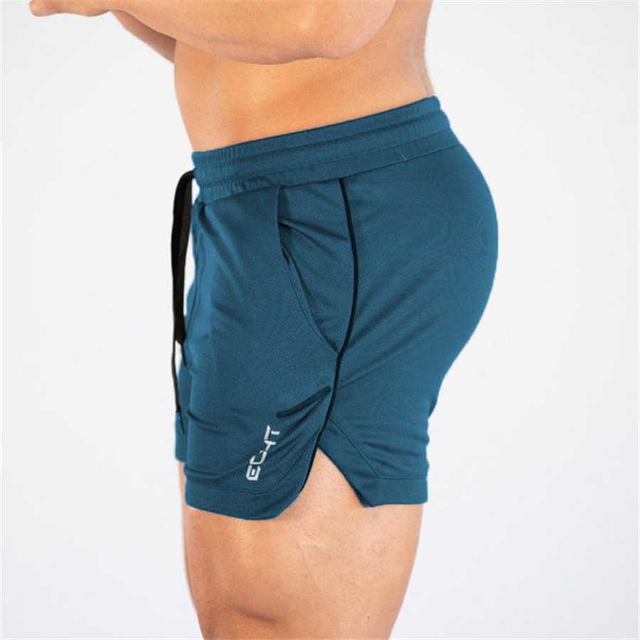 2019 homens de fitness musculação shorts homem verão ginásios treino masculino malha respirável secagem rápida roupas esportivas jogger praia calças curtas